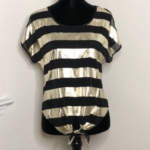 Tops - Gold & Black Stripe Top